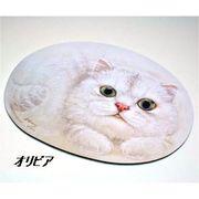 【HenryCats&Friends】シェイプドマウスパッド ねこ【2】/猫/ネコ/ねこ/パソコン/事務用品