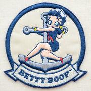 ワッペン/アップリケ ベティブープ Betty Boop(セーラー) アイロン接着 BBW-005