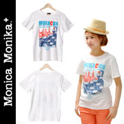 Monica Monika+ コットン100% TEE CITY 【Tシャツ ユニセックス 爽やか 白 ホワイト WHITE】