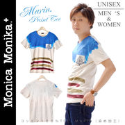 Monica Monika+ コットン100% TEE MARIN(染め加工)Tシャツ☆ユニセックス