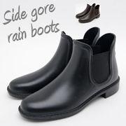 """""""新作レイン""""雨の日だってこんなかわいい長靴を履いたら気分↑↑サイドゴアショートレインブーツ♪"""