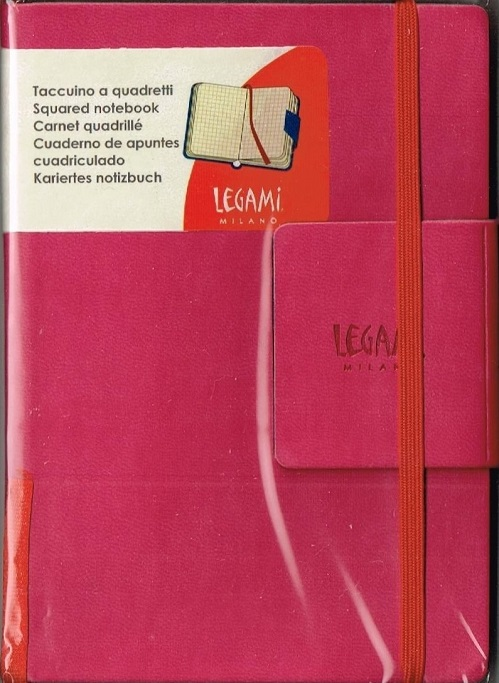 LEGAMi イタリア製ゴムバンド付ノート スモール ピンク