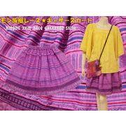 ふんわりしたシルエットのモン族ギャザースカート♪モン族裾レース★ギャザースカート