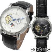 【全針稼動の本格仕様】★サン&ムーン自動巻き腕時計 BCG118【保証書付】