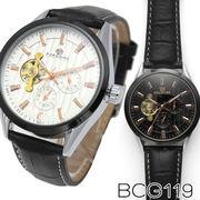 【全針稼動の本格仕様】★自動巻き腕時計 BCG119【保証書付】