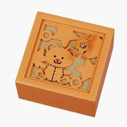 【 木製オルゴール (クマ) ♪星に願いを 】 【 木製Aメロディー 】