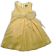 美しきジョイス ふんわり広がるシルエットが可愛いドレス(濠Du)イエロー 85-110cm