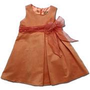 美しきジョイス ふんわり広がるシルエットが可愛いドレス(濠Du)オレンジ 85-110cm