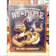 アメリカンブリキ看板 私たちは国民だ -第2の改正-