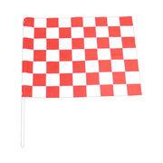 チェッカーフラッグ(赤白)60×78cm塩ビパイプ付 レース/F1/モトクロス/競争