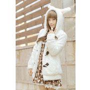 【初回送料無料】可愛いウサギの耳★中学生★かわいいコート ジャケット 2色