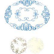 刺繍テーブルマット(楕円型S) 124-05