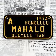 好きな文字にできるアメリカナンバープレート(小・自転車用サイズ)ハワイ・自転車タグ-黒