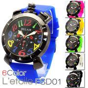 【L'etoile】人気のトップリューズ式 メンズ 腕時計 FSD01