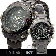 【L'etoile】ミディアムフェイス メンズ 腕時計 IK7