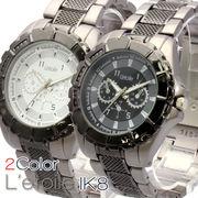 【L'etoile】スタイリッシュ メンズ 腕時計 IK8