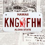 好きな文字にできるアメリカナンバープレート(小・自転車用サイズ)ハワイ・カメハメハ大王