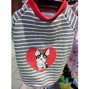 セール☆人気の格安犬服☆ 半そでしま犬Tシャツ これからちょうどいい