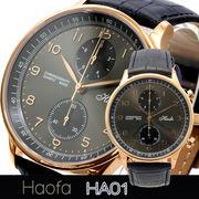 L'etoile レトワール  クロノグラフ搭載プレミアムモデル メンズ 腕時計 HA01