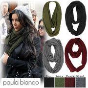 Paula Bianco ポーラビアンコ スヌードマフラー PBS100