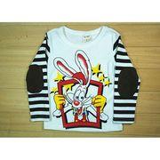 ディズニー ホワイトラビット薄手長袖Tシャツ 90cm~130cm 綿100%