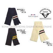【ハイランド2000】 19 フリンジ ストライプ スカーフ 全3色 メンズ&レディース
