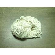 シルク粗糸2本交撚(絹糸) Silk roving ×2 生成り