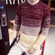 ふんわりケーブル編みニット☆セーター ニットケーブルニット クルーネック  メンズファッション秋冬 長袖