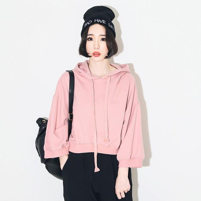 レディースファッション トップス パーカー  ピンク フリーサイズ