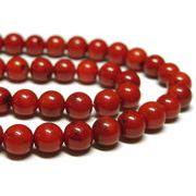 珊瑚(染色) 真紅 約6mm 長さ約40cm 連販売