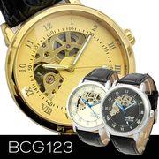 【重厚感も◎】ハーフスケルトン自動巻き腕時計 BCG123