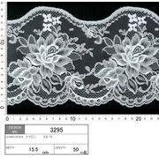【メーカー直販】★レース巾15.5cm スカラ部分がとってもかわいい! 10m巻/オフ白
