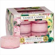 YANKEE CANDLE YANKEE CANDLE クリアカップティーライト12個入り 「 フレッシュカットローズ 」
