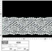 【伸縮あり!ストレッチレース】★レース巾8.5cm 多彩な柄の入った花柄レースです♪