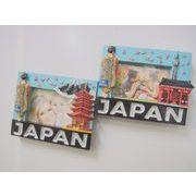 お土産JAPANフォトフレームマグネット 2種 《外国人観光客向け日本土産》