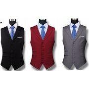 高品質スーツベスト  結婚式メンズ   ビジネス通勤オールシリーズ  紳士 チョッキ    礼服