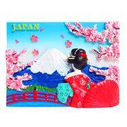 お土産JAPANマグネット 舞妓と富士 《外国人観光客向け日本土産》