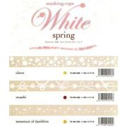 ROUNDTOP yano design White spring マスキングテープ 3柄