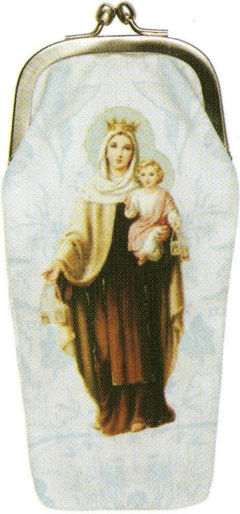 LES INVASIONS EPHEMERES めがねケース 小物入れとして使用可 マリアとイエス・キリスト