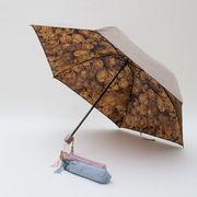 雨に濡れると柄が浮き出る傘 軽量ミニ 裏花プリント