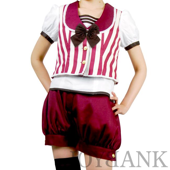 大きいサイズ[BERUNIKA]アンティークボーイ風ストライプセットアップ【舞台衣装】※最終処分セール※