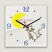 MYCLO 「アニマル」シリーズ時計 06 ねこちゃん イラストオリジナル 文字盤時計