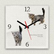 MYCLO 「アニマル」シリーズ時計 03 ねこちゃんオリジナル 文字盤時計
