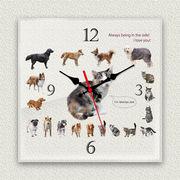 MYCLO 「アニマル」シリーズ時計 02 Dog&Cat 文字盤時計