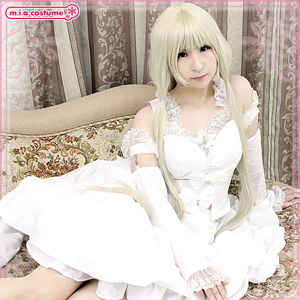 1150E★M■送料無料■ 少女型パソコン風 白ドレス 色:白 サイズ:M/BIG ●ちょびっツ・ちぃ●