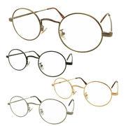 【TY801】ラウンドタイプ★メタル伊達メガネ【4色展開♪♪】 丸メガネ/眼鏡/まんまる/まるめがね