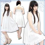 1155F★MB■送料無料■ お出かけ白ワンピース 色:白 サイズ:M/BIG ■サマードレス■