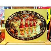 アメリカンブリキ看板 COORS:クアーズゴールデンビール