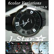 NEWモデル☆J-Star★3D ラバータイプ BIGフェイス ユニセックス 腕時計☆J-1059R-N