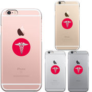 iPhone6 iPhone6S アイフォン ハード クリア ケース カバー 日の丸 医療 系 シンボル